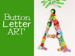 diy craft button wall hanger