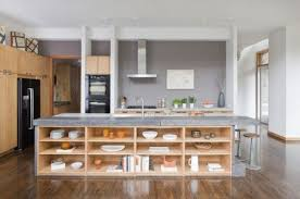 18 practical kitchen island designs with open shelving kitchen