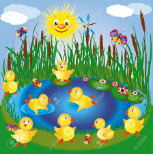 duck in the pond clipart clipartxtras