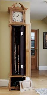 German Grandfather Clocks Grandfather Clock Gun Cabinets The Bespoke Gun Cabinets Company