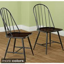 Dining Chair Deals Simple Living Milo Mixed Media Dining Chairs Set Of 2 Chair