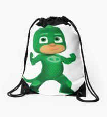 gekko pj masks drawstring bags redbubble