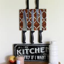 make a magnetic knife block for your kitchen the country chic