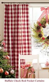 Christmas Kitchen Curtains by Love The Decor With The Buffalo Check Curtains Christmas