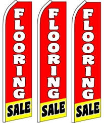 3 swooper flutter feather flags flooring sale white