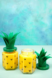 easy diy pineapple candles happiness is homemade