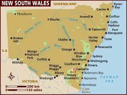 map of new south wales map of new south wales