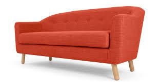 seat sofa lottie 3 seat sofa tuscan orange made