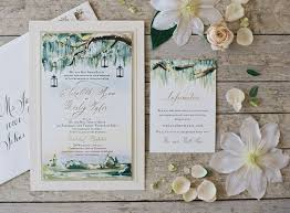 painted landscape wedding invitations momental designsmomental designs