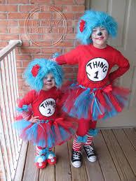 2 Halloween Costumes Dr Suess Inspiredcustom Handtied Ribbon Tutu Happybubkin