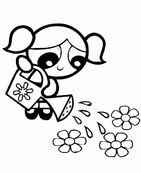 powerpuff girls coloring pages kids coloring