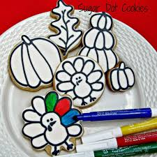 sugar dot cookies fall cookie decorating class