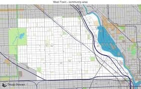 Chicago Areas Map by Map Of Building Projects Properties And Businesses In West Town