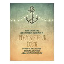 nautical save the date nautical anchor save the date postcards zazzle