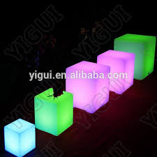 led cubes 60cm cubes colorful useful chairs tables furniture led cube