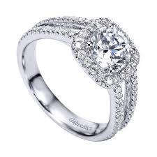 Circle Diamond Wedding Ring by 14k White Gold 1 55cttw Split Shank French Pave Set Round Diamond