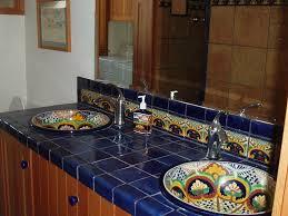 mexican tile bathroom designs mediterranean master bathroom with high ceiling blue mexican