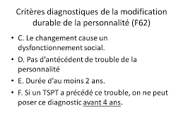 changement si e social stress post traumatique dsm 5 diagnostic et aspects