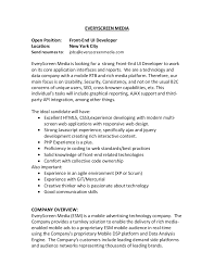 Mainframe Developer Resume Examples by Front End Developer Resume Alyssa Hope Front End Web Developer