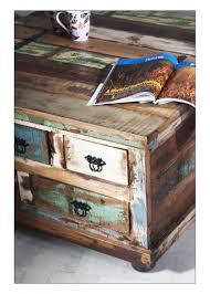 Wohnzimmertisch Truhe Couchtischtruhe Couchtisch Truhentisch Altholz Recycelt