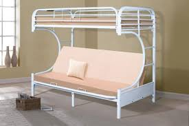 White Futon Bunk Bed Donco Gloss White C Shape Futon Bunk Bed 4509 3wh