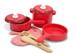 Toy Kitchen Set For Boys Amazon Com Melissa U0026 Doug Deluxe Wooden Kitchen Accessory Set