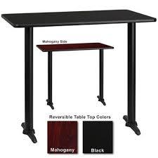 30 x 48 dining table bar height hospitality table t base black mahogany 30 x 48 1