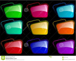 color combination with black bright folders with different color combination stock illustration