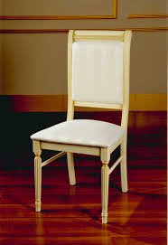 italian classic beige fabric dining chair