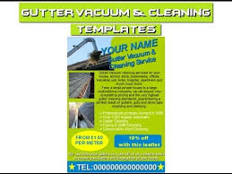 cleaning brochure templates free gutter cleaning flyersleafletsbusiness cardsbusiness templates and