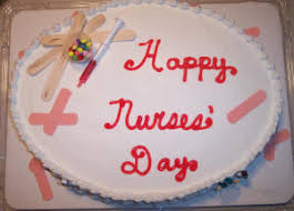 happy nurses day beautiful cake graphic