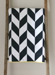 Nautical Quilts Craftyblossom Navy And White Nautical Herringbone Quilt