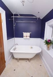 navy blue and white paint color for small bathroom bathroom