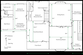 simple house blueprints with measurements and simple house plans