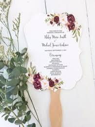 diy wedding program fans template wedding program fan template bohemian floral instant