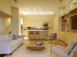 living room and kitchen ideas open kitchen living room design with modern space saving design