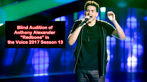 The Voice Season 4 Blind Auditions Blind Audition Of Anthony Alexander U201credbone U201d In The Voice 2017