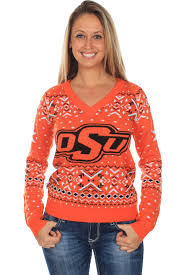 orange sweater womens s oklahoma state sweater tipsy elves