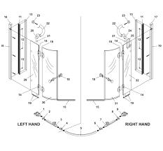 vertical shower door seals bliss standard 800mm quadrant left hand hinged shower door and