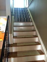 before after diy stair runner u2014 anna versaci design