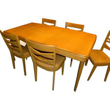 heywood wakefield 1947 mid century modern dining table w 5 chairs