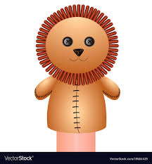lion puppet isolated lion puppet royalty free vector image