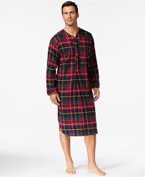 polo ralph s plaid flannel pajama nightshirt in for