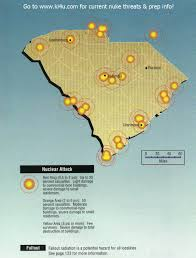 Charleston Sc Map Nuclear War Fallout Shelter Survival Info For South Carolina With