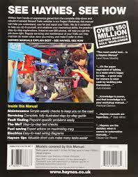 renault trafic diesel 01 11 haynes repair manual haynes