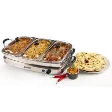 Buffet Server With Warming Tray by Gourmet Stainless Steel 6 4l Buffet Server Warming Tray Food Dish