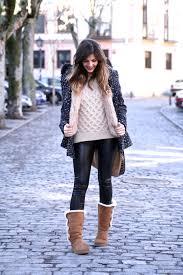 imagenes look invierno look invierno con ugg leggings abrigo estado y capucha de