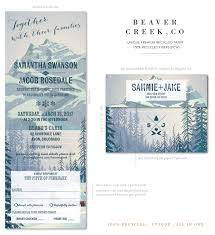 mountain wedding invitations mountain wedding invitations on 100 recycled paper beaver creek