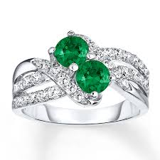 sapphire emerald rings images Lab created emerald ring lab created sapphires sterling silver jpg