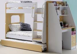 Bunk Beds With Desk Wooden Olympic By Sleepland Beds - Trundle bunk bed with desk